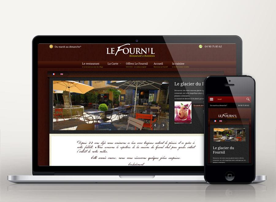 creation site internet restaurant le Fournil