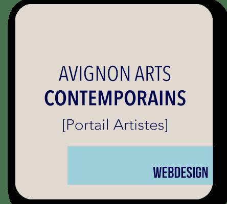creation site internet portail artistes Avignon