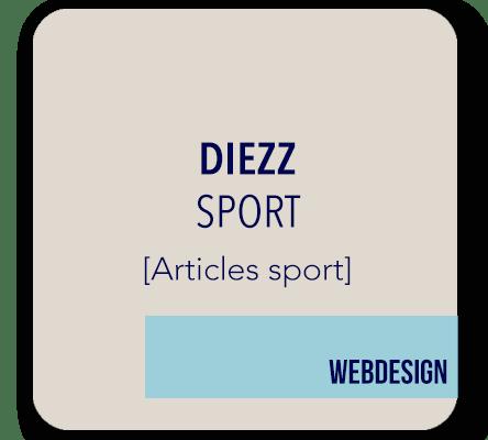 creation site internet DIEZZ articles sport