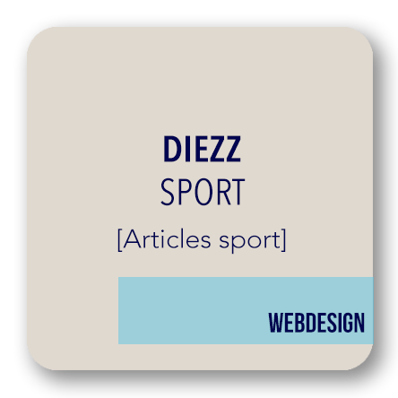 creation site internet DIEZZ articles sport