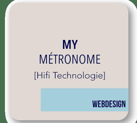 webdesgin boutique Métronome audio