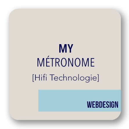 webdesgin boutique Métronome audio