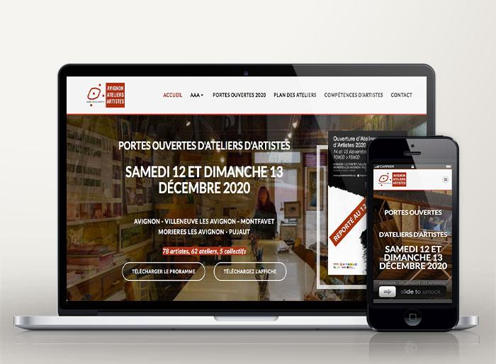 creation site avignon-ateliers-artistes